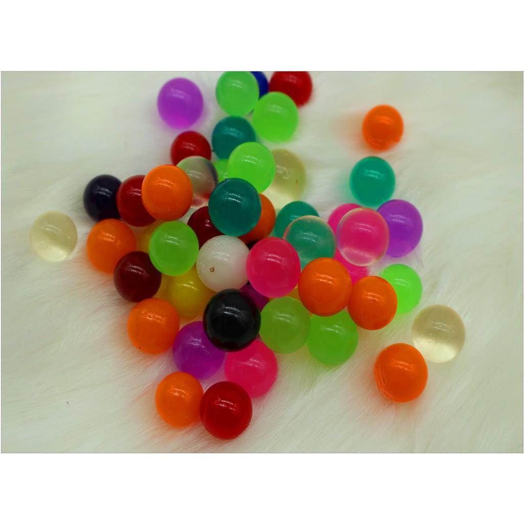 Nguyên liệu trang trí - gói 100gram hạt nở nhiều màu - hạt nở đan thạch mã PDC14