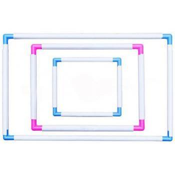 Combo khung nhựa thêu loại 100k và 60k và 10 kim thêu đít vàng 11CT