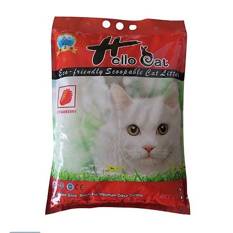 Cát vệ sinh cho mèo HELLO CAT 10lit - Cát Hút ẩm tốt, mùi  dễ chịu Cát vệ sinh cho mèo HELLO CAT