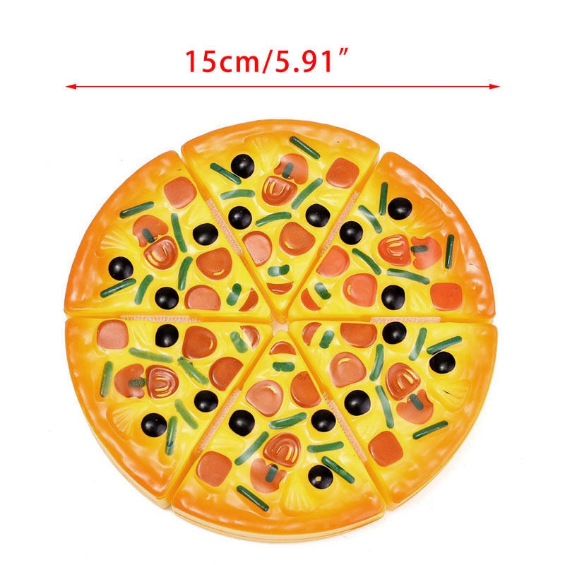 6pcs Children Kids Pizza Slices Toppings Pretend Dinner Kitchen Play Food Toys Kids Gift
