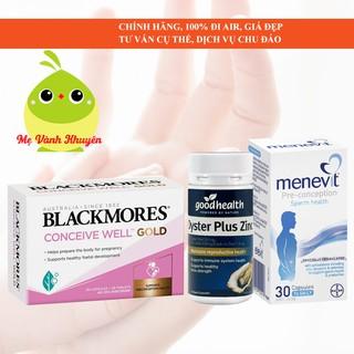 Bổ trứng, tinh trùng tăng thụ thai Blackmores Conceive Well Menevit, Úc (56v 30v 90v) thumbnail