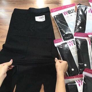 Quần legging Warm 4 túi cao cấp loại 1,chất vải dày dặn,co giãn (đen)