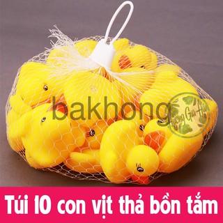 [Nhập mã TOYJUNE giảm 10K]Túi 10 con vịt thả bồn tắm cho bé bakhong