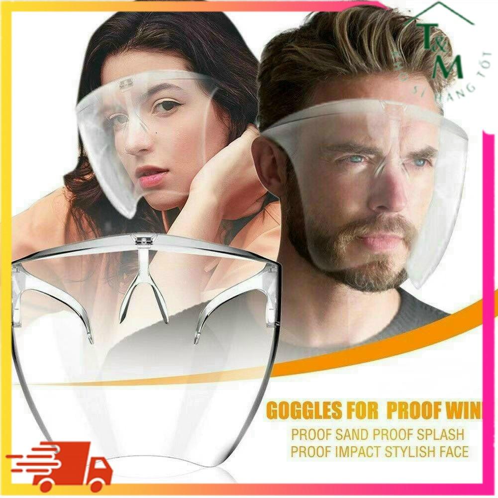Kính chống giọt bắn Bảo Hộ Khẩu Trang Phòng Chống Dịch Face Shield, Giúp Chống Giọt Bắn Full Face T&M