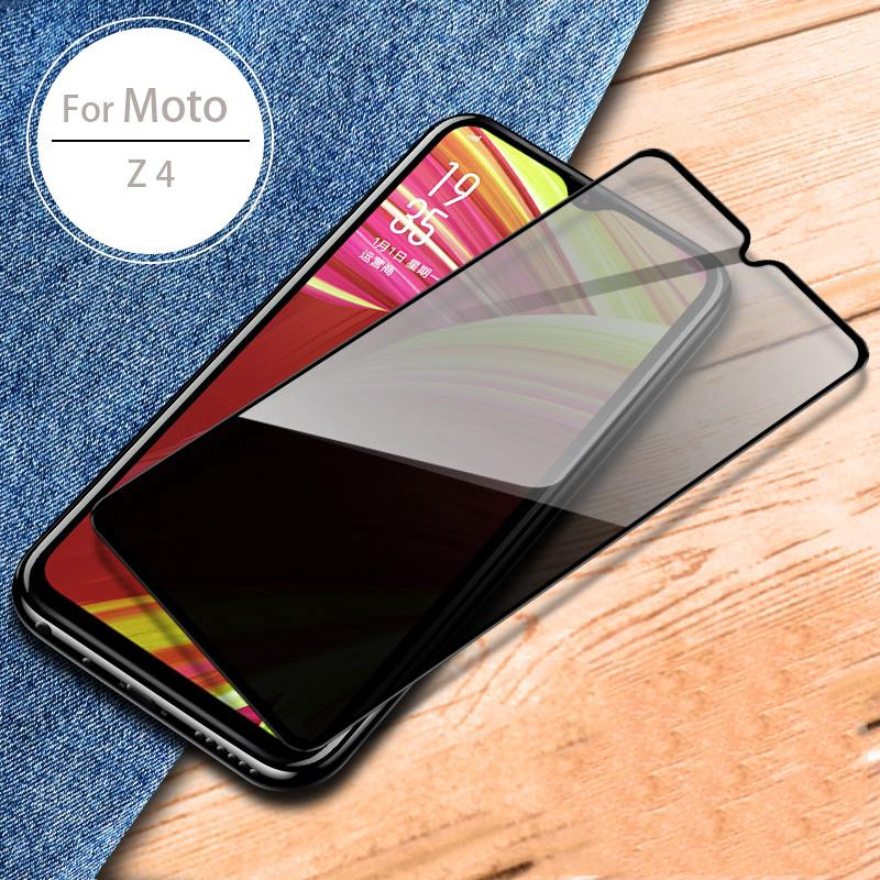 Full Glue Privacy Screen Protector for Motorola Moto Z4 G7 Plus Full Coverage Anti Spy Tempered