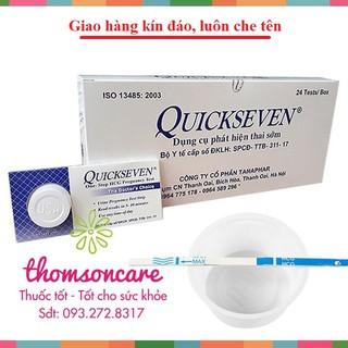Hộp 24 que thử thai Quickseven - Nhanh, chính xác - giao hàng kín đáo, che tên thumbnail
