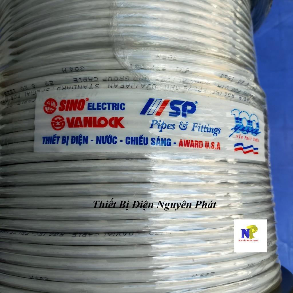 SINO] Cáp Tivi RG6 (5C-FB) lõi CCS 80 sợi SP trắng 305m