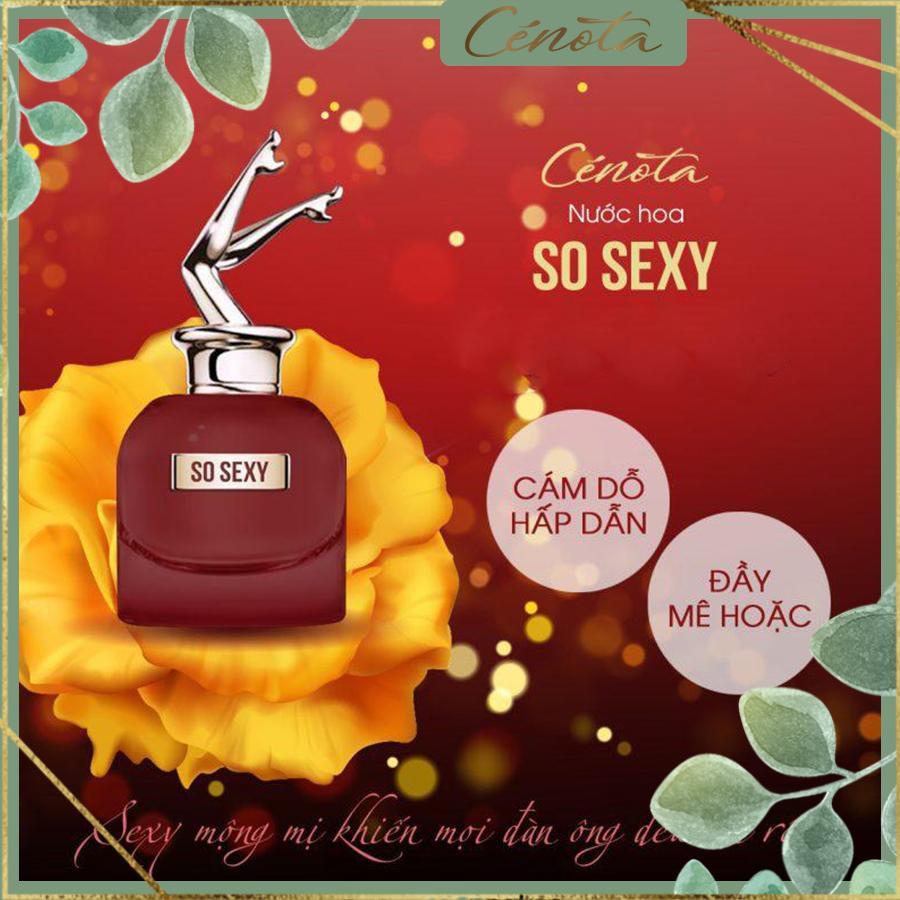 Nước hoa nữ Cénota So Sexy 60ml, nước hoa nữ lưu hương lâu, quyến rũ - mã PG12 buny