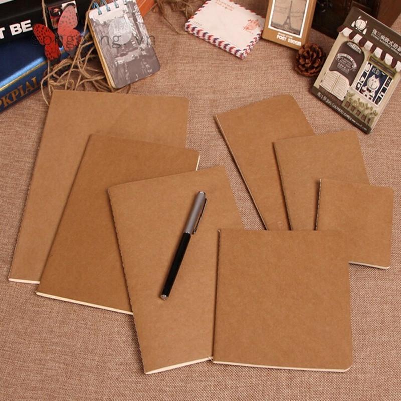 Tập giấy ghi chú màu trơn phong cách retro