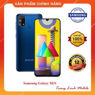 """[Mã ELMS3TR giảm 7% đơn 2TR] Điện thoại Samsung Galaxy M31 - Hàng Chính Hãng Mới 100% giá chỉ còn <strong class=""""price"""">470.000.000.000đ</strong>"""
