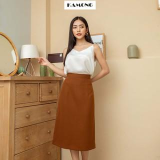 Chân váy dài cơ bản KAMONG dáng suông công sở nhiều màu, nhiều size. thumbnail