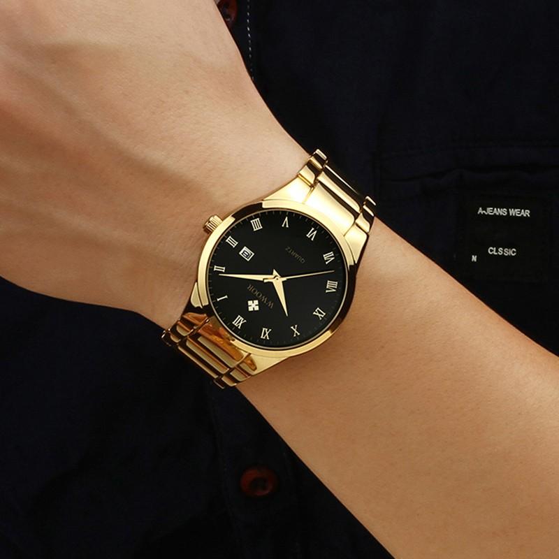 Đồng hồ quartz WWOOR 8830 bằng thép không gỉ chống thấm nước cho nam
