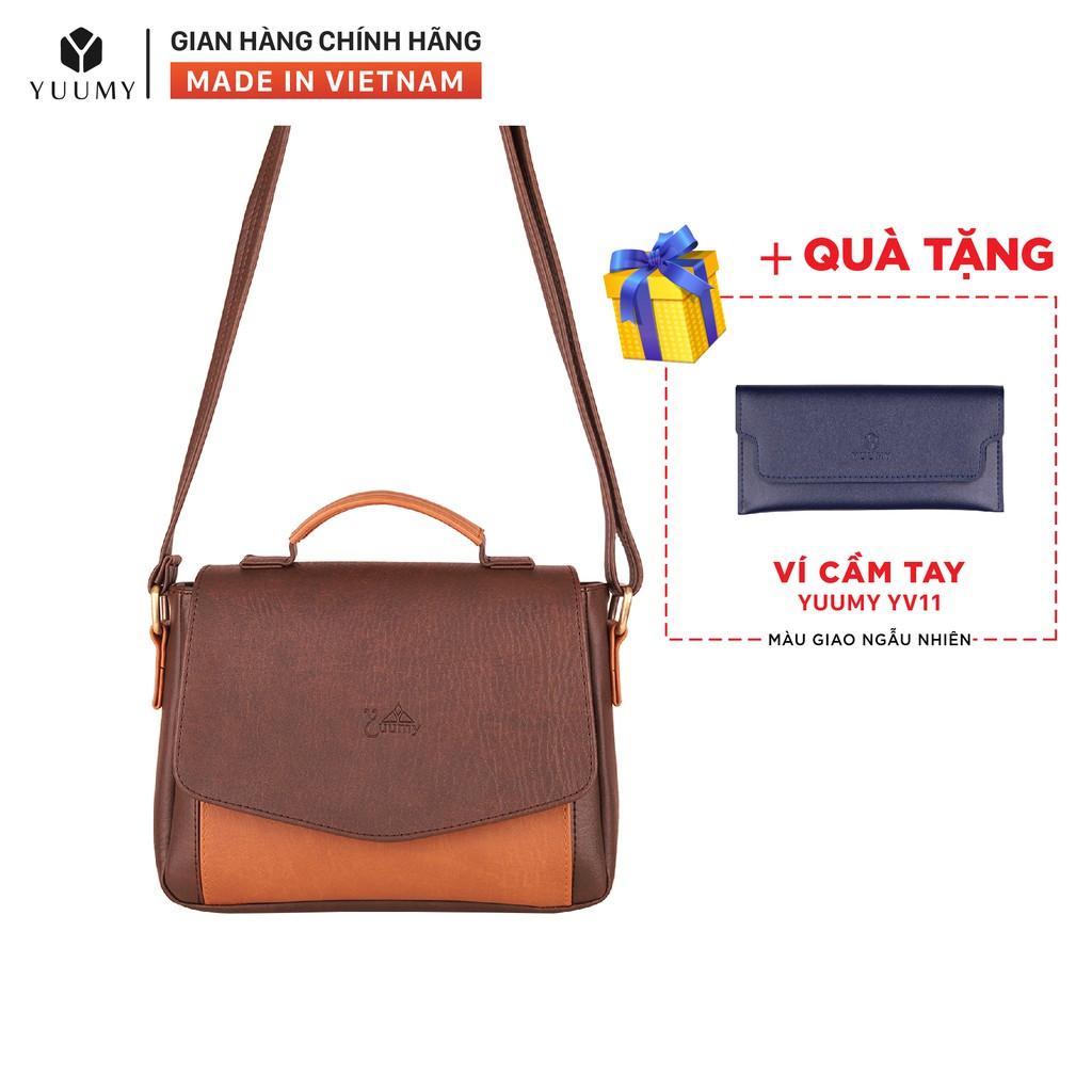 Túi đeo chéo nữ thời trang YUUMY YN31 nhiều màu (Tặng ví cầm tay YV11)