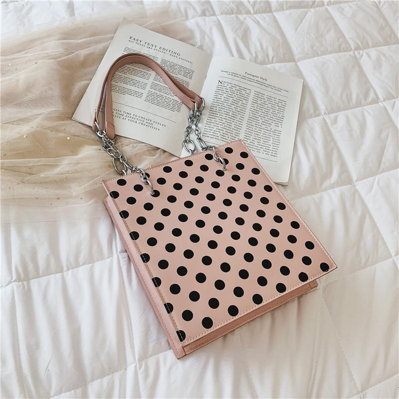 2019 new Korean fashion wave point handbag small bag female