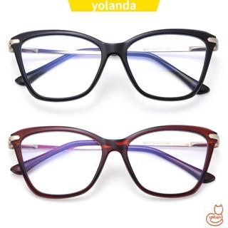 ☆YOLA☆ Women & Men Blue Light Blocking Glasses Reading Gaming Glasses Blue Light Blocking Computer Glasses Fashion Anti Eye Eyestrain Square Frame Non-Prescription Eyeglasses
