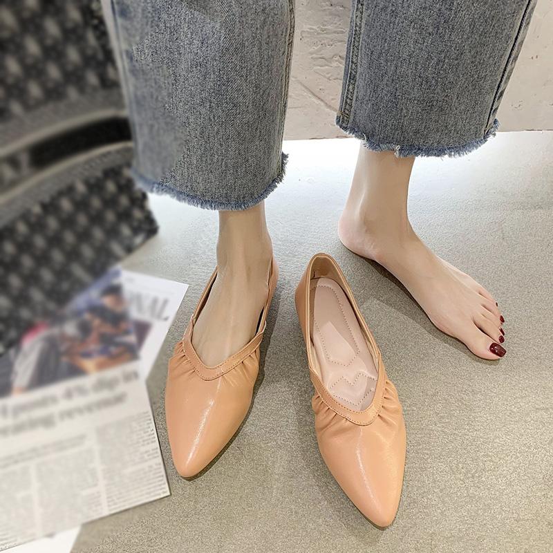 Giày Đế Bằng, Giày Bệt Mũi Nhọn Hợp Thời Trang