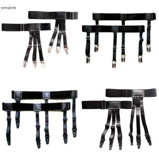Sock Garters Soft Black Comfortable Mens Sock Garters Adjustable Elastic Belt Suspenders Shirt Suspenders Holder