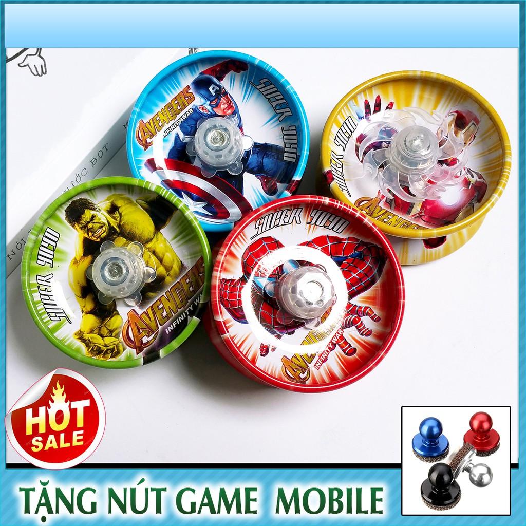 Bộ đồ chơi con quay Yoyo Marvel + Tặng free nút game Joystick