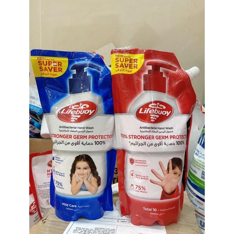 Nước rửa tay túi Lifebouy bảo vệ sức khoẻ túi 1000ml có vòi tiện dụng( hàng xịn xuất nước ngoài)