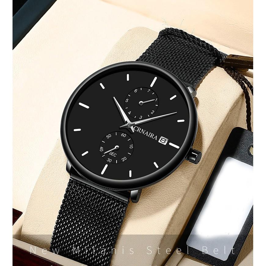 Đồng hồ nam dây lưới thép siêu đẹp Crnaira CR898