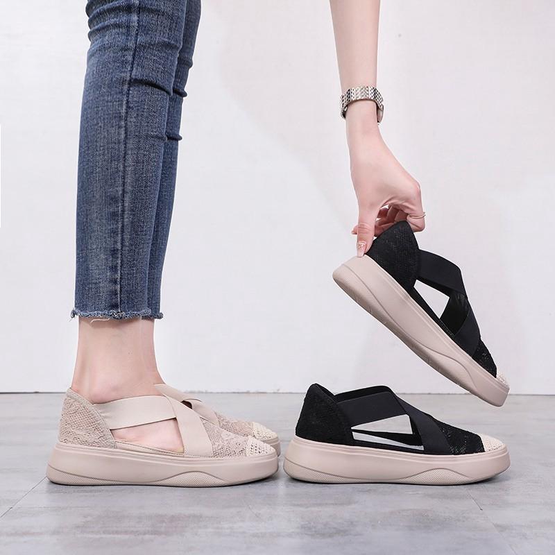 Giày lười thoáng khí cho nữ