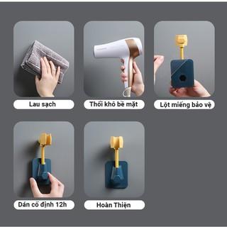 Giá đỡ vòi sen dán tường xoay 360 độ - hình 3