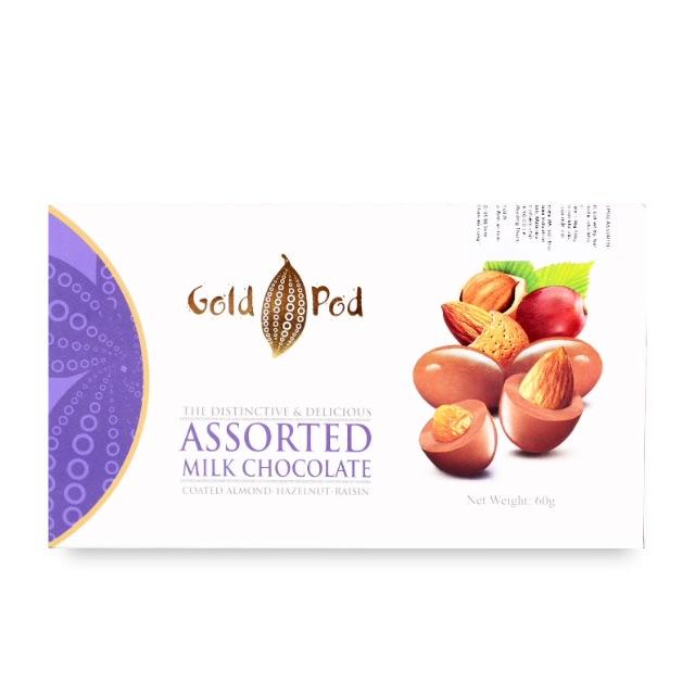 Sô cô la sữa hỗn hợp Gold Pod 60g