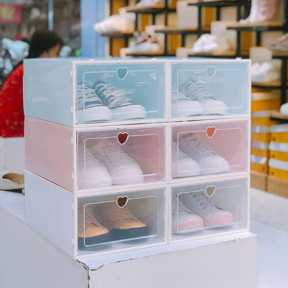 Hộp để giày Nắp nhựa cứng trong suốt - Hộp giày Tủ sắp sếp giày Size Nam
