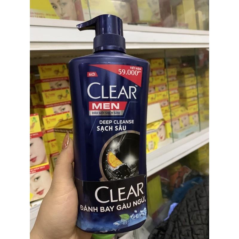 Dầu gội CLEAR MEN DEEP CLEANSE  than hoạt tính 630g