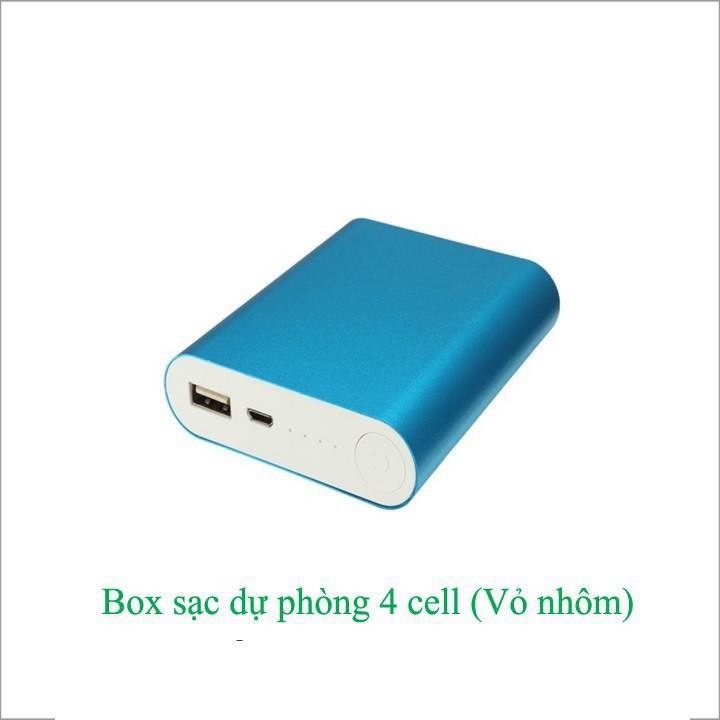 Box sạc dự phòng 4 cell nhôm (chưa bao gồm pin)