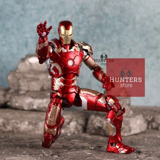 Mô hình Iron Man SHF Mark 43 vs ghế Sofa Avengers Age of Ultron