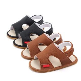 Giày tập đi Sandal cho bé trai bé gái sơ sinh từ 0-12 tháng đế mềm chống trơn trượt phong cách Hàn Quốc D28 thumbnail