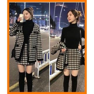 [Sẵn Hàng] Set Áo Khoác+Váy Dạ Ulzzang(ảnh thật)Size S- XL thumbnail