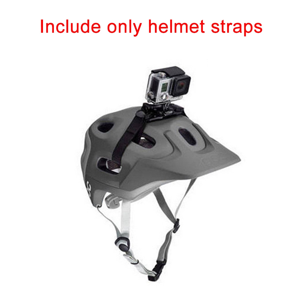 Helmet Strap Sports Camera Easy Install Adjustable Adapter Vented Accessories Mount Bicycle Black Holder For GoPro