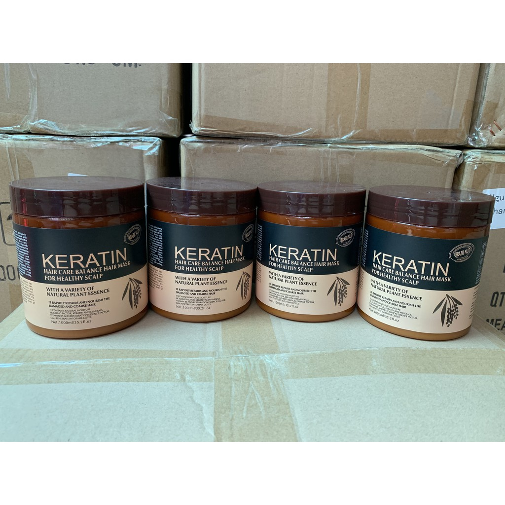 Hấp Dầu Keratin Brazil Nut 1000ml Chăm Sóc Và Dưỡng Ẩm Tóc