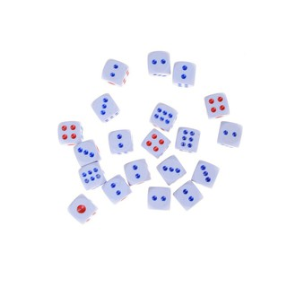 20Pcs 12mm Opaque Six Sided Spot Dice Games D6 RPG Playing Toys