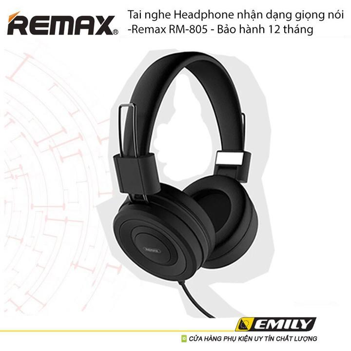 Tai Nghe Chụp Tai có mic chơi game Remax RM-805 Dành Cho Game Thủ Và Nghe Nhạc Cực Đỉnh