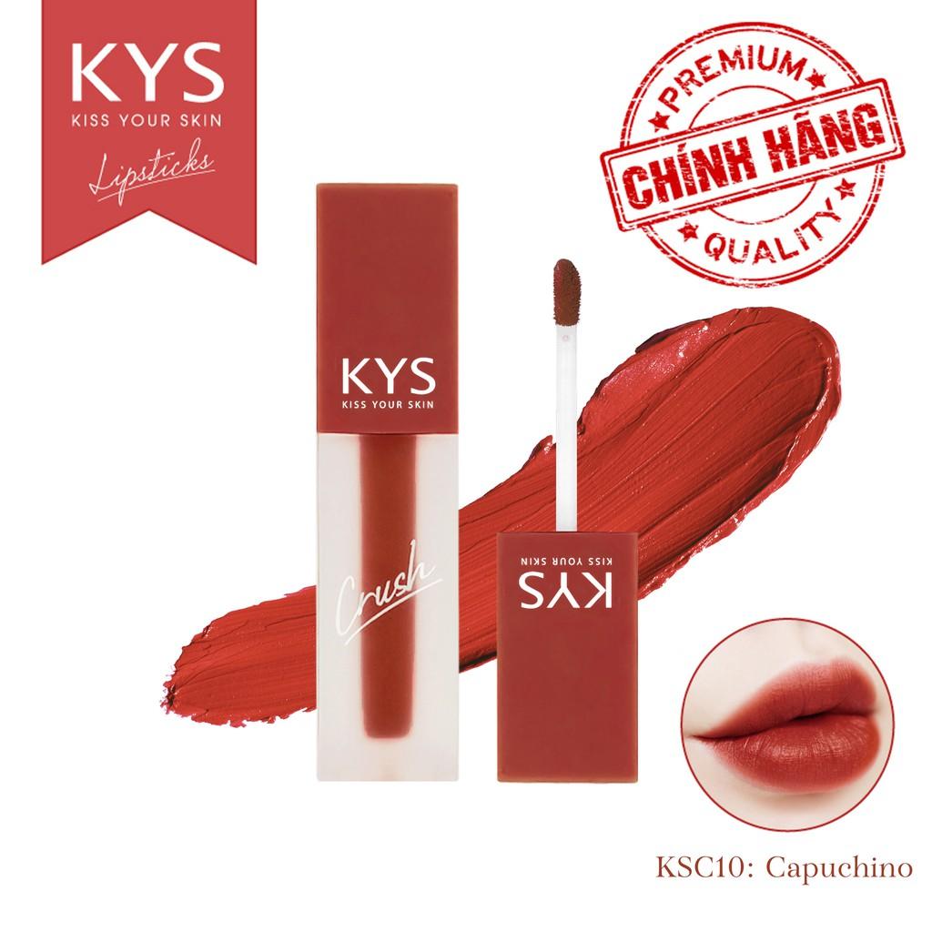 [TẶNG MÃ 20K] Son Kem Lì Lâu Trôi Mịn Môi chocolate Crush KYS 3,5g (10 màu)