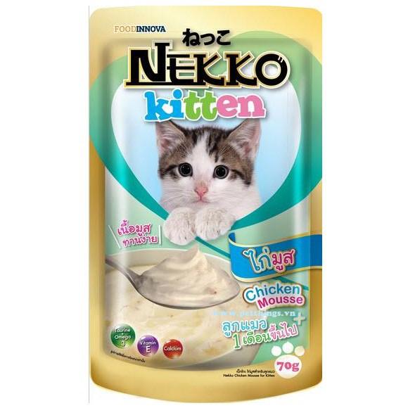 Pate Nekko cho mèo con vị gà ( 70g )