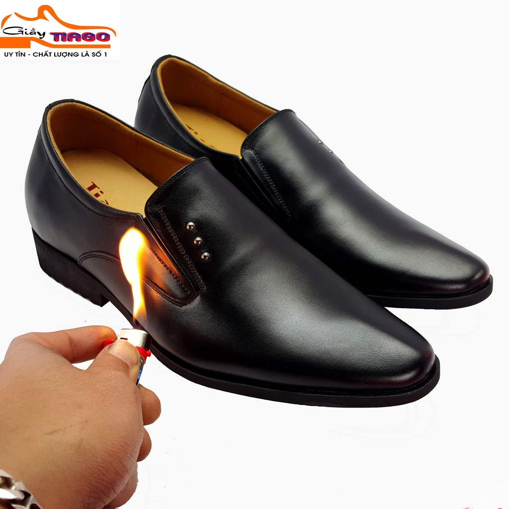 giày nam nâng chiều cao 6.5 cm da bò cao cấp
