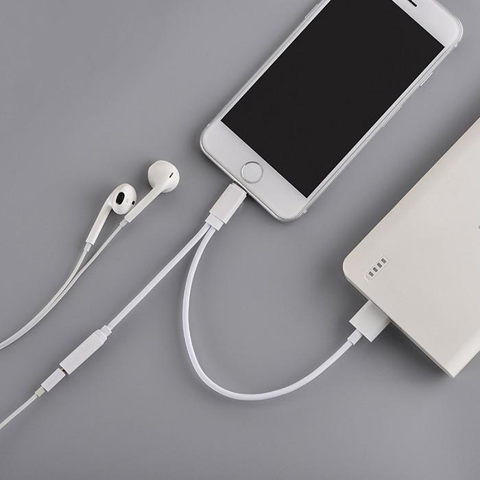 Cáp từ chia cổng Lightning ra tai nghe và cổng sạc cho iphone 7/8/X - 3216346 , 1005000156 , 322_1005000156 , 150000 , Cap-tu-chia-cong-Lightning-ra-tai-nghe-va-cong-sac-cho-iphone-7-8-X-322_1005000156 , shopee.vn , Cáp từ chia cổng Lightning ra tai nghe và cổng sạc cho iphone 7/8/X