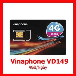 SIM VINAPHONE 4G GÓI VD149 TẶNG 120gb/tháng-4GB/NGÀY GỌI MIỄN PHÍ