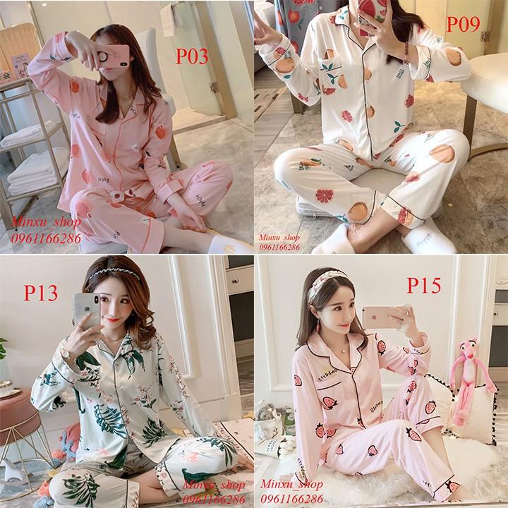 Bộ Pijama Dài Tay - Sợi Tơ Sữa Cao Cấp Mềm, Mịn - Siêu Dễ Thương