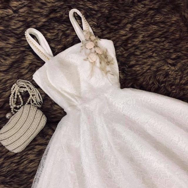 1731697511 - S07 - Đầm dạ hội đầm công chúa hai dây đính ngọc