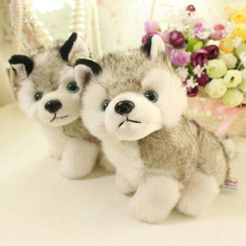AK.-18cm 7″ Plush Doll Soft Toy Husky Dog Baby Kids Cute Stuffed Toys Gift GY