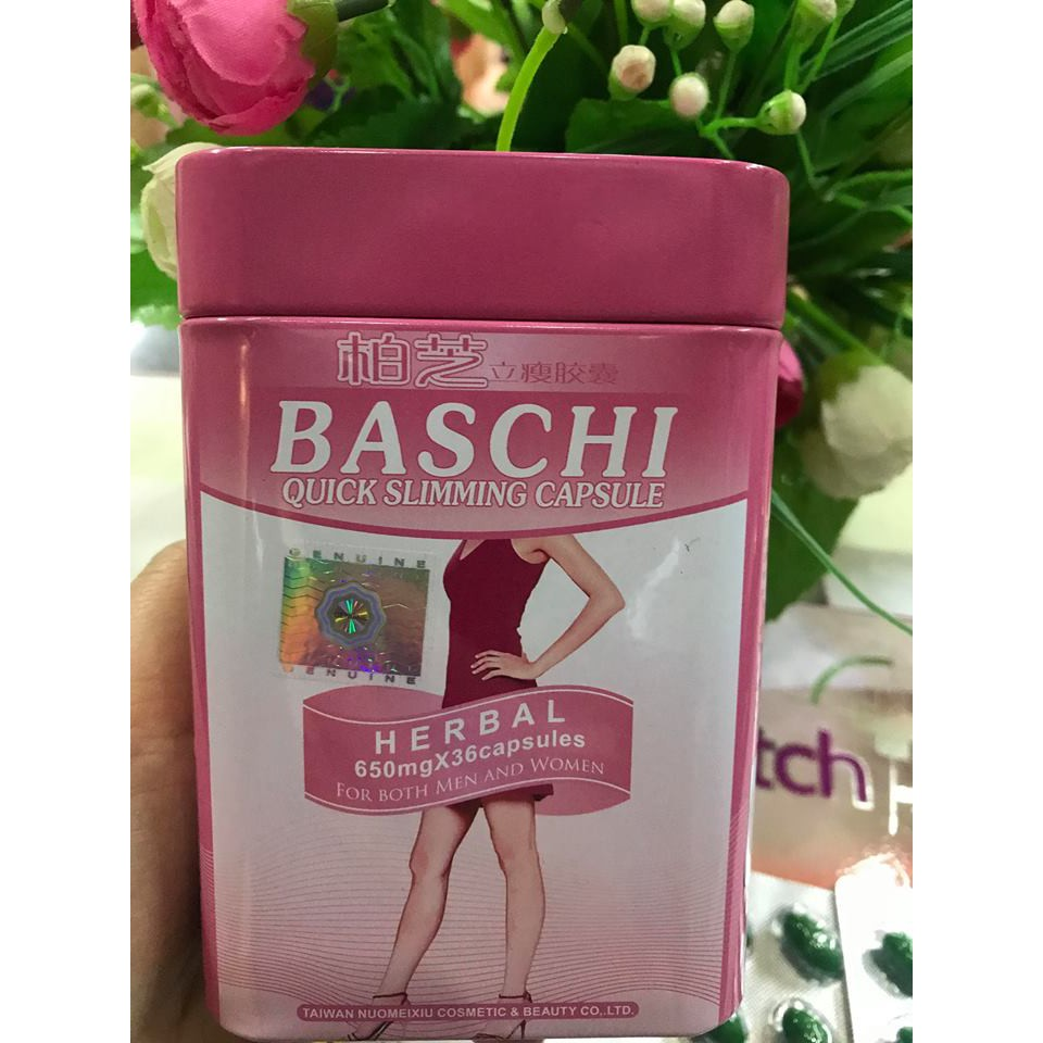 THUỐC GIẢM CÂN BASCHI màu hồng HỘP SẮT hàng Thái Lan chính hãng (36 viên) - 3407095 , 1070637533 , 322_1070637533 , 180000 , THUOC-GIAM-CAN-BASCHI-mau-hong-HOP-SAT-hang-Thai-Lan-chinh-hang-36-vien-322_1070637533 , shopee.vn , THUỐC GIẢM CÂN BASCHI màu hồng HỘP SẮT hàng Thái Lan chính hãng (36 viên)