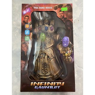 Găng tay anh hùng Thanos đeo được có đèn- nhạc Infinity Gauntlet