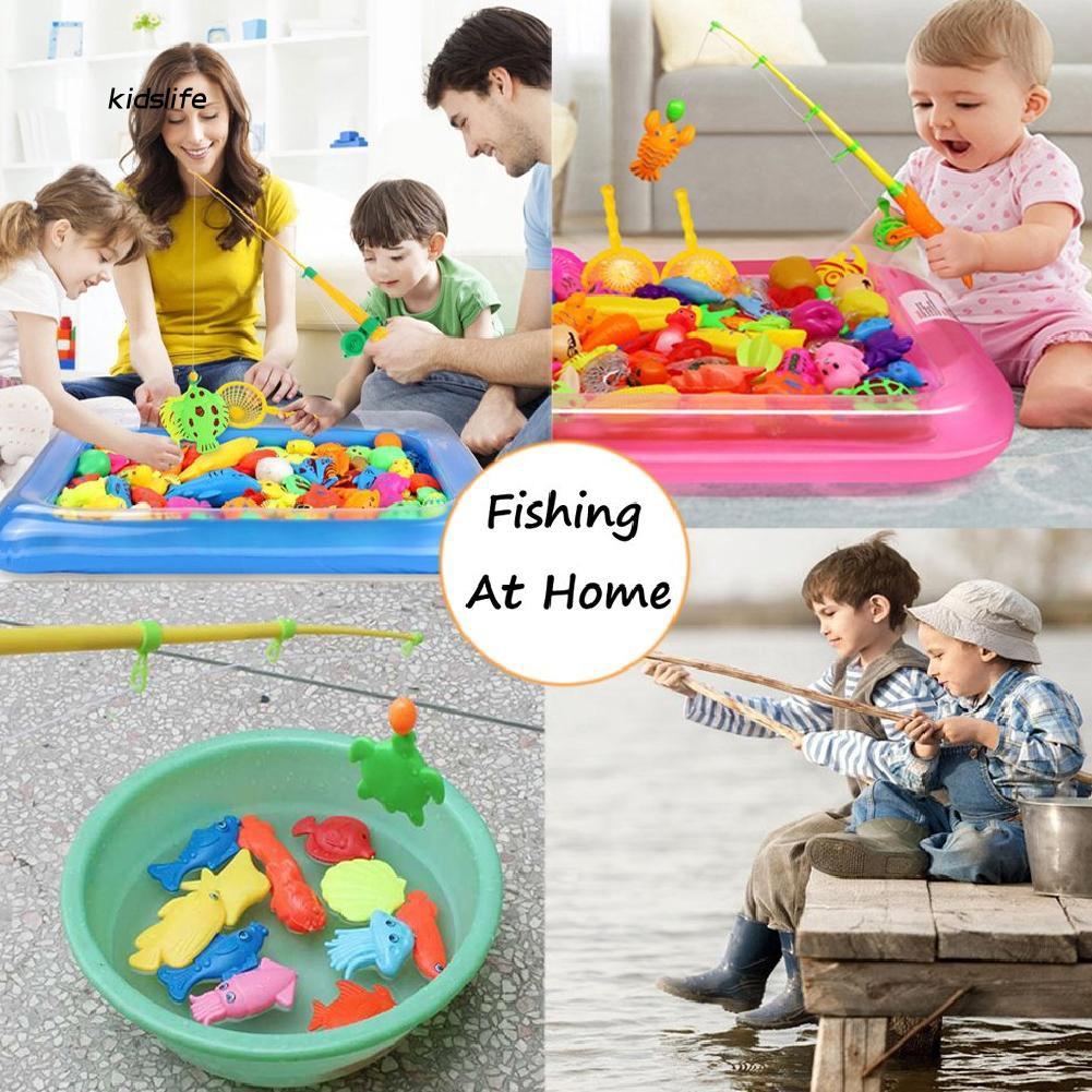 KDLF_39Pcs/Set Plastic Fishing Toy Magnetic Children Learning Education Game Kit Gift