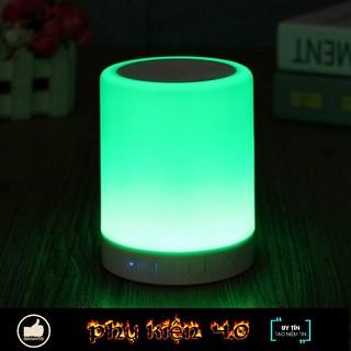 [Mã ELFLASH5 giảm 20K đơn 50K] Loa Bluetooth Kiêm Đèn Ngủ, Đèn Led Cảm Ứng Đổi Màu