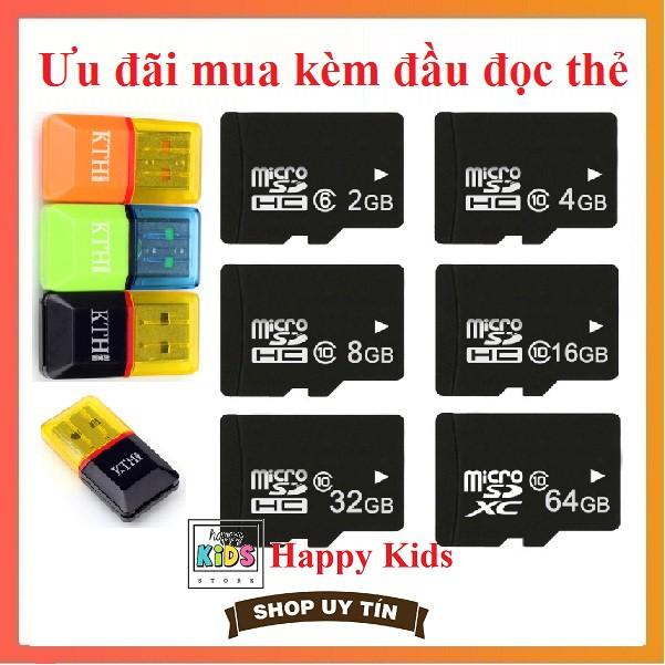 Thẻ nhớ kèm đầu đọc MicroSDHC 2GB/4GB/8GB/16GB/32GB/64GB